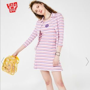 dELiA*s by Dolls Kill Get A Clue Striped miniDress